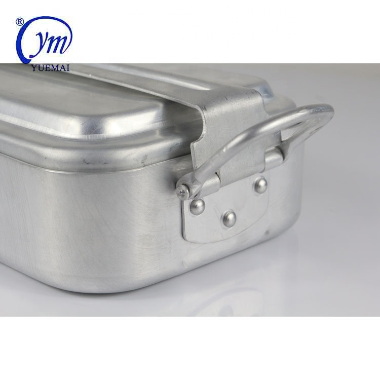 Military outdoor camping army canteen aluminum 3 pcs mess tins