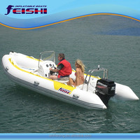 "Inflatable RIB 470CM/15'4""Boat With outboard motor"
