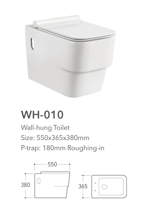 WH-010R Middle east design wall mounted toilet bowl,wall hung toilet price