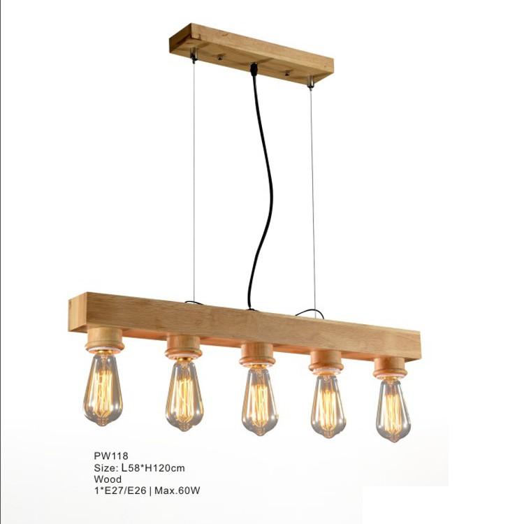 나무 램프 에디슨 천장 펜던트 조명 샹들리에 커피 숍 장식 ...