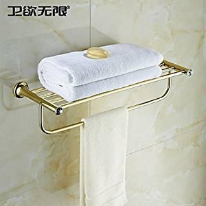 "W&P Bathroom rack-mounted titanium PVD 605 ¡¥ x220 X117 mm (23.8 ¡¥ x8.67 ¡¥ X5.7 "") brass/Crystal modern"