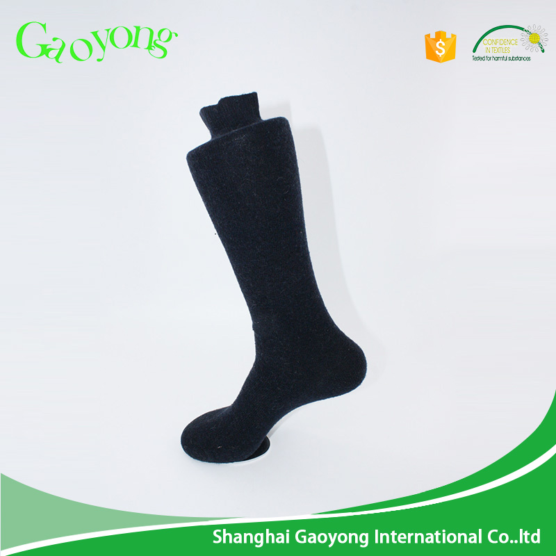 Wholesale men women black knee high merino wool dress socks
