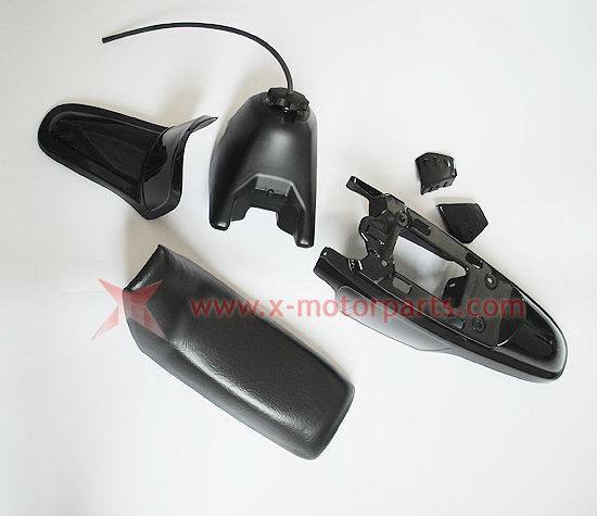 Black Plastic Fender Body Seat Gas Tank Kit Fit For Yamaha PW50 PY50 PW 50