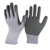 NMSAFETY 10 gauge polyester lining latex crinkle gloves cheap latex gloves work safety gloves