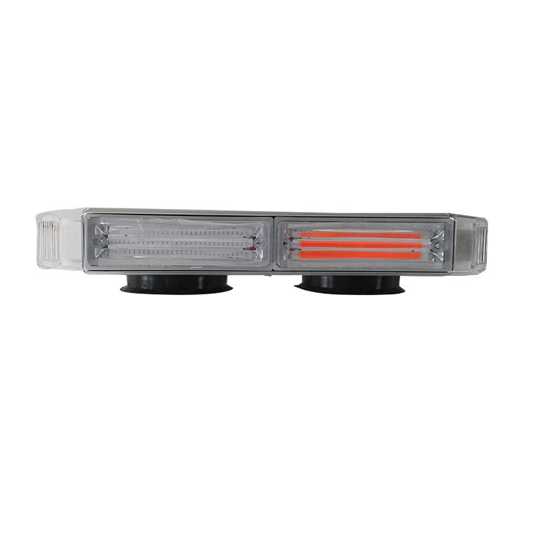 """43/"""" 40W LED Emergency Traffic Advisor Wrecker BRAKE Amber White CARGO Lights Bar"""