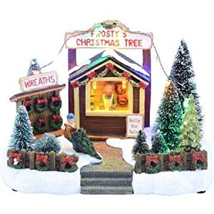 get quotations holiday time 575 holly for sale christmas village - Holiday Time Christmas Decorations