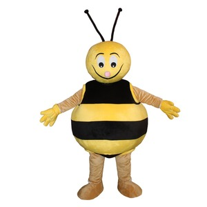HI CE standard life size funny yellow bee animal mascot costumes for kids