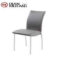 gray leather covering affordable upholstered dining chairs