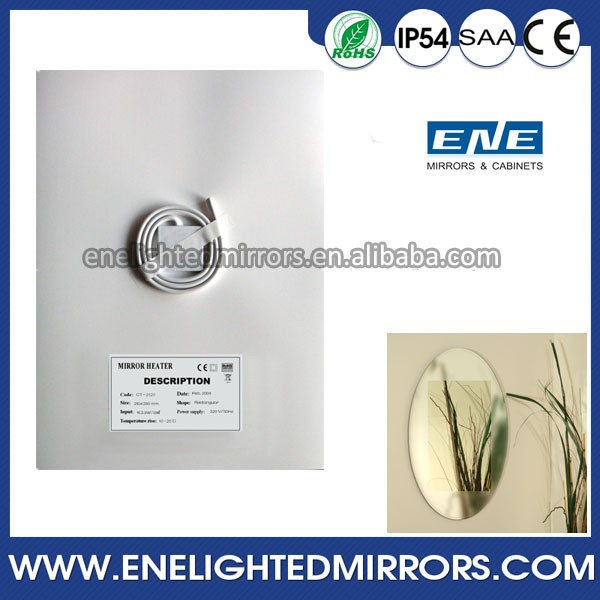 New Style Bathroom LED Lighted Mirror with fog free mirror mats