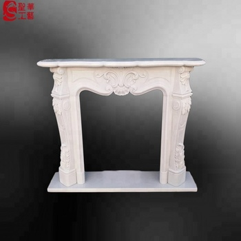 Factory price small indoor marble fireplace