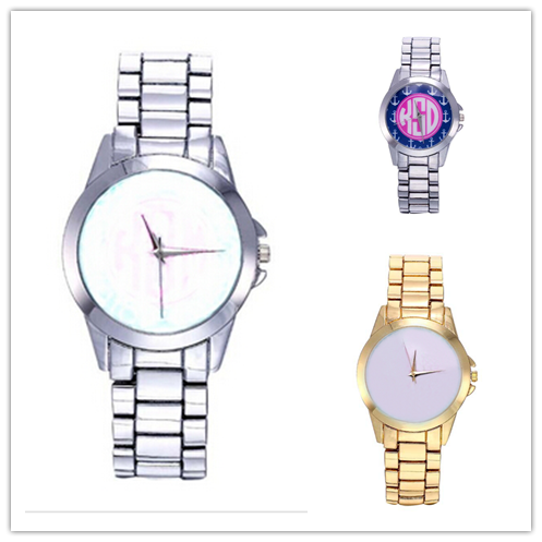 Personalized Sublimation Blank Watch Stainless Steel Monogramed Unisex Watches