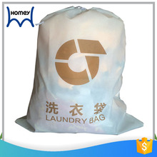 Whole sale outdoor non woven cloth square shoe laundry bag