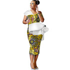 Mix Wholesale African Wax Print Dresses Cotton Bazin Rich African Style Clothing for Women Plus Size 6xl Design Dress WY3115