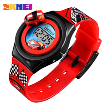 SKMEI Cartoon Car Children's Watch Fashion Digital Electronic Children Watch Creative Cartoon Student Watch Boy Child Girl 1376