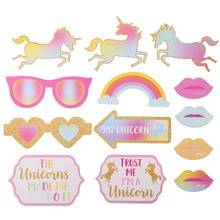 Unicorn Theme Party Favors For Baby Shower Party Decorations Unicorn Photo Props