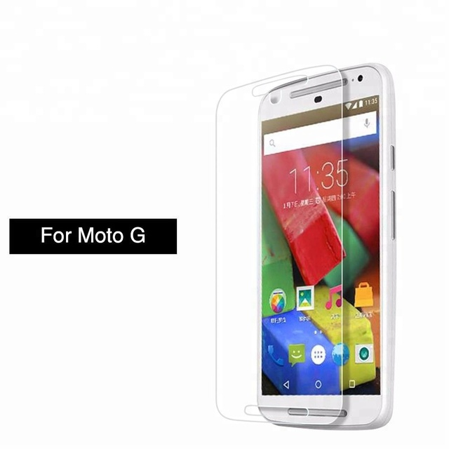 2.5D flexible holographic tempered glass screen protector for moto g4 plus