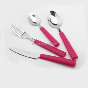 plastic handle cutlery, plastic handle flatware
