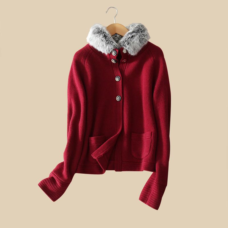 100 real cashmere coats raccoon fur nagymaros collar full sleeve zipper pockets autumn font b winter