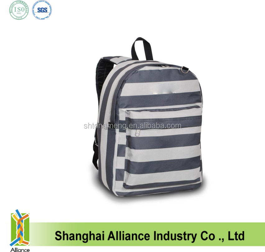 2016 zebra-stripe fabric wholesale colorful polyeste foldable bag back to school backpack