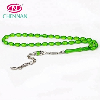 f73354628 Alibaba popular charm green Allah Muslim rosary amber prayer beads with  tassel