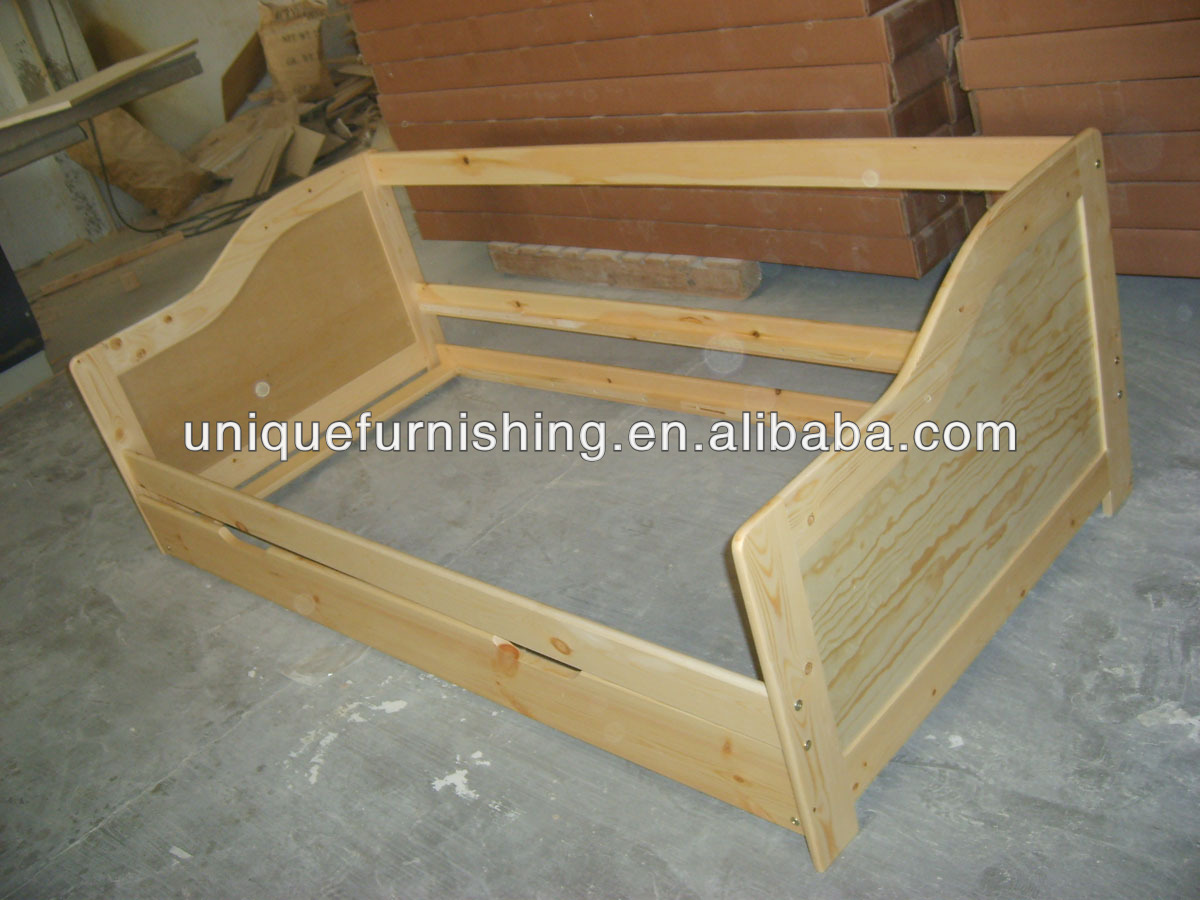 Caja de madera maciza de pino de calidad moderna cama for Sofa cama calidad precio