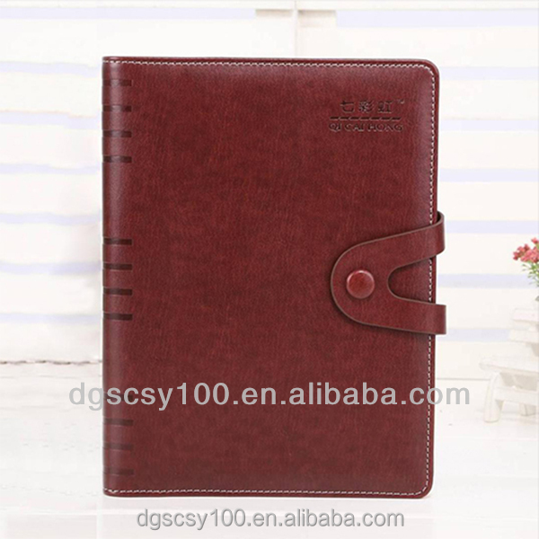 custom A4/A5/A6 pu cover agenda diary notebook for promotional gift