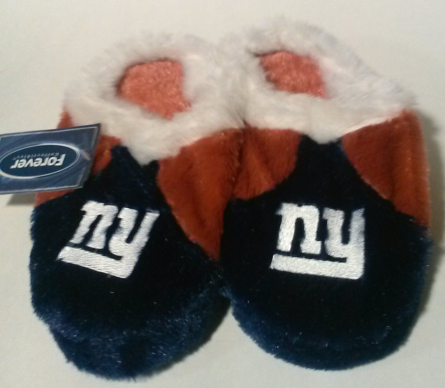 NFL New York Giants Youth Plush Indoor Slippers, X-Large (7/8)
