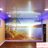 waterproof pvc strech ceiling film for glossy