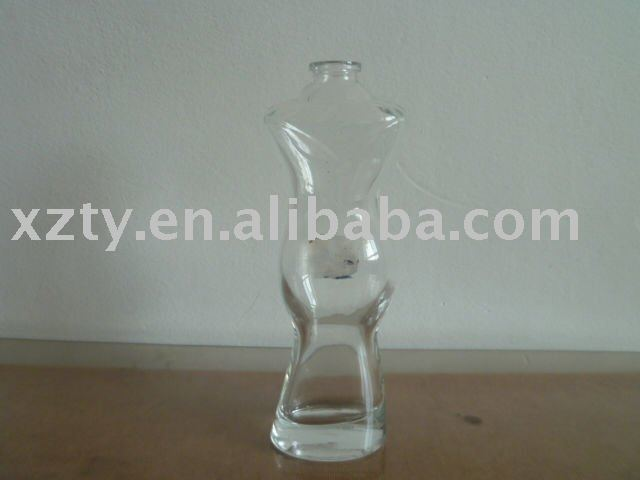 woman shaped 100ml perfume glass bottle with sprayer