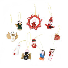FQ brand wooden hanging handmade christmas ornament