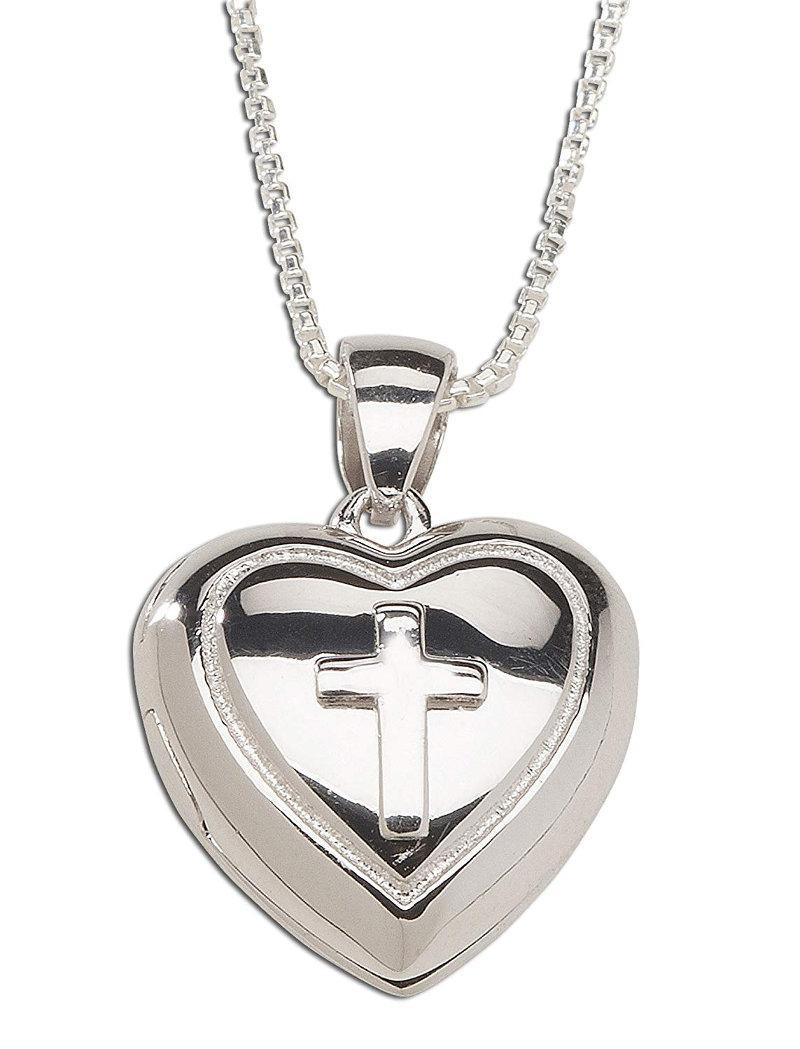 Finejewelers Sterling Silver Laser Designed Cross Pendant Necklace Chain Included