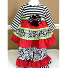 2017 fall winter little girl boutique remake toddler outfit kids girls ruffle floral clothing set
