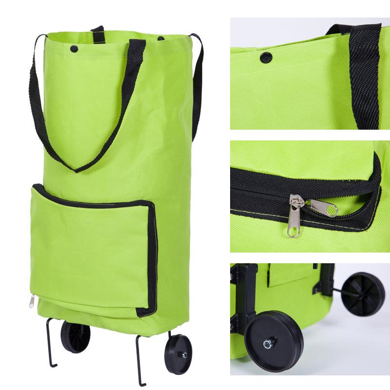 친환경 접이식 슈퍼마켓 핸들 식료품 쇼핑 카트 휴대용 접이식 쇼핑 트롤리 가방