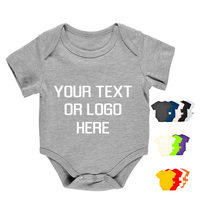 China Newborn Infant Wear Clothes Wholesale Cotton Design Your Own Custom Baby Grow Bodysuit