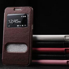 luxury original case for samsung galaxy grand prime g530 g530h by fashion pu leather view phone flip window retro stand cover