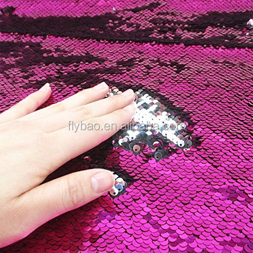 factory directly hot sale shiny fashion high quality color changing magic DIY sequin fabric