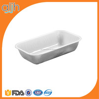 airline food packing aluminium foil container and lid printed for cake bake CAS300