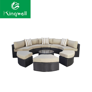 High quality hotel furniture sofa swimming pool big lounge bed plastic rattan bed