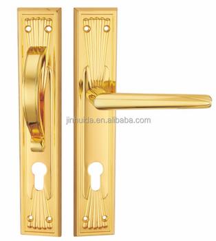 Jhd-490 Luxurious Golden Vertical Long Plate Door Handle - Buy ...