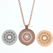 New fashion stainless steel coin bezels locket pendant