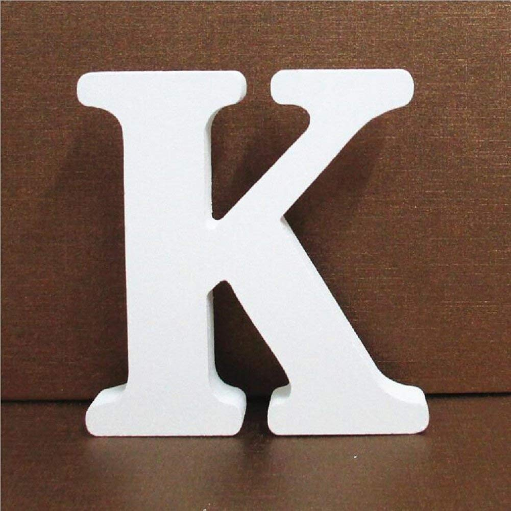 get quotations venkaite wooden letters a z alphabet letters decor wedding birthday party home decoration white k