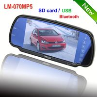 2013 new products 7 inch car rearview monitor dvd vcr (LM-070MP5)