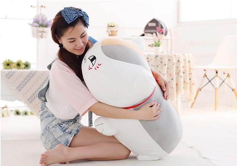 big creative plush big eyes teacher cat toy plush white cat doll gift about 70cm