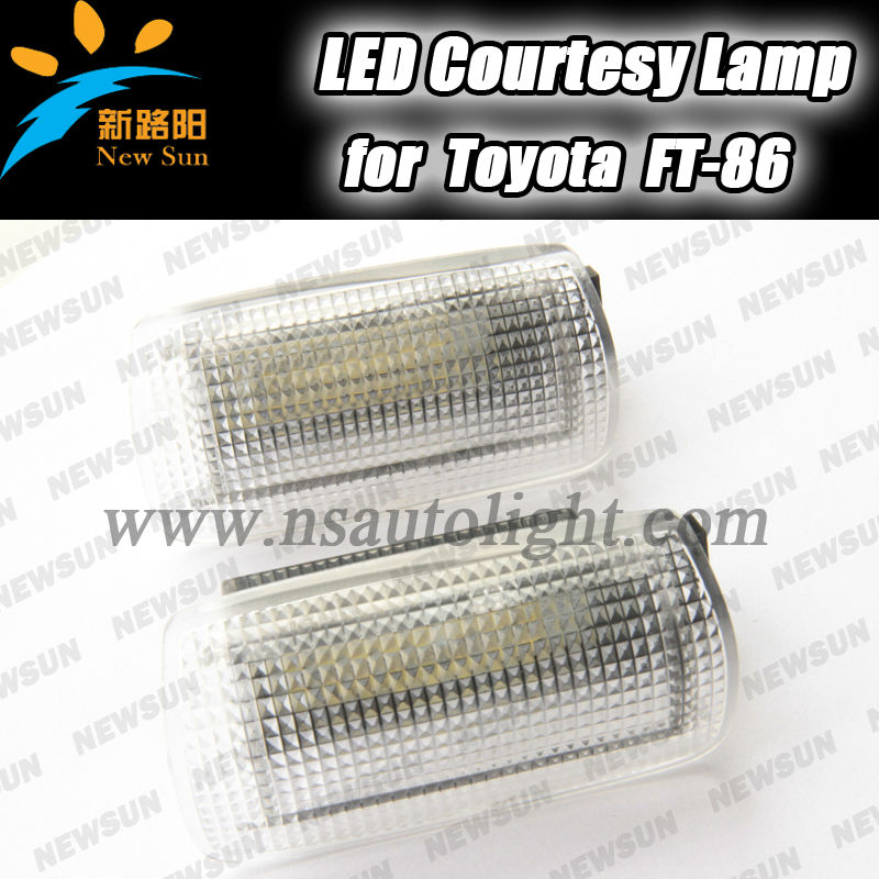 Pure White 2pcs 24x WHITE FT86 GT86 LED DOOR COURTESY LIGHT for TOYOTA for SUBARU BRZ/ for SCION FR-S for Lexus is for Crown