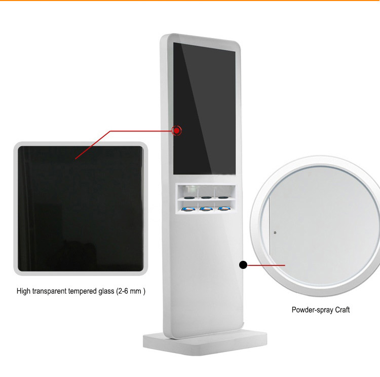 32 inch wireless charging with windows system Media Floor Standing Design support charging with mobile phone case