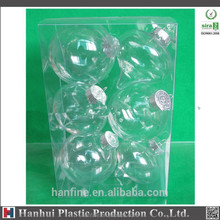 Hanhui brand plastic christmas ball/100mm/any clolor is welcome