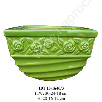 ceramic pots made in vietnam indoor outdoor pots and planters ceramic products for view larger image - Large Ceramic Planters