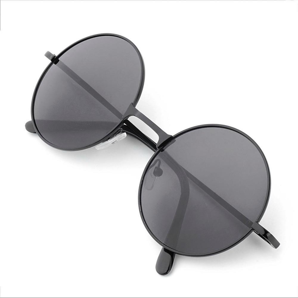 49b83f4317 Get Quotations · 1pcs Vintage Retro Men Women Round Metal Frame Sunglasses  Glasses Eyewear Black Lens Whoelsale