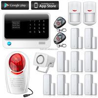 Factory directly offer wifi alarm system, latest burglar alarm system wireless gsm home alarm system kit!
