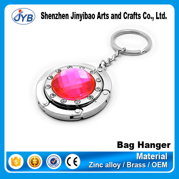 Souvenir Gifts Promotional Foldable Rhinestone Bag Hanger Hook